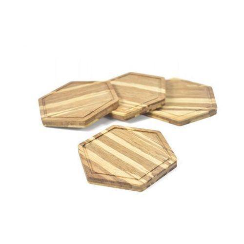 Podkładka pod kubek - bambus tygrysi iii - 4 4 marki Woodwaycrafts