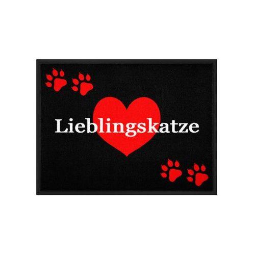"""Wycieraczka """"Lieblingskatze"""" bonprix czerwony"""