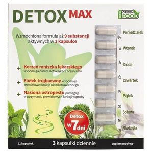 Kapsułki Suplement diety Detox Max