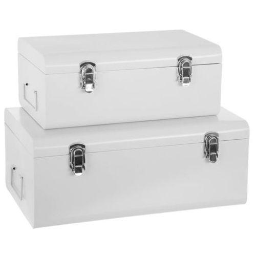 Skrzynia do przechowywania, z uchwytem - 2 sztuki w komplecie, biała (3560238930304)