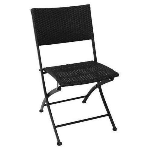 Krzesła składane czarne | 2 szt. | 58x47x(h)85cm marki Bolero