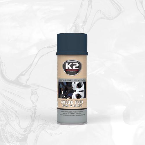 Color flex guma w sprayu - carbon syntetyczna powłoka gumowa w sprayu marki K2