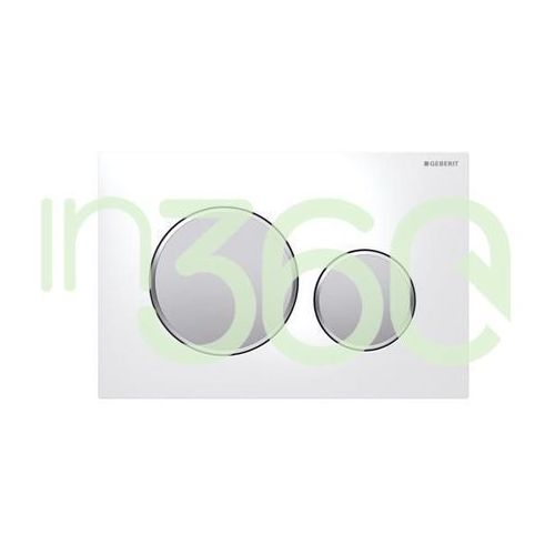 Geberit Sigma20 przycisk uruchamiający przedni, biały-chrom mat-chrom mat 115.882.KL.1