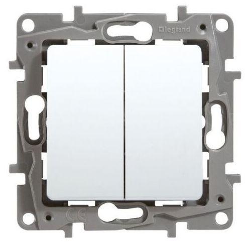 Łącznik schodowy Legrand Niloe 764509 + przycisk zwierny 6A biały, 764509