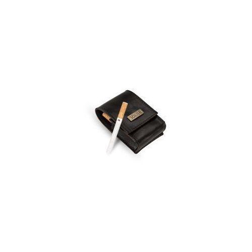 Skórzane męskie etui na papierosy sa14 standard ciemny brąz marki Solier