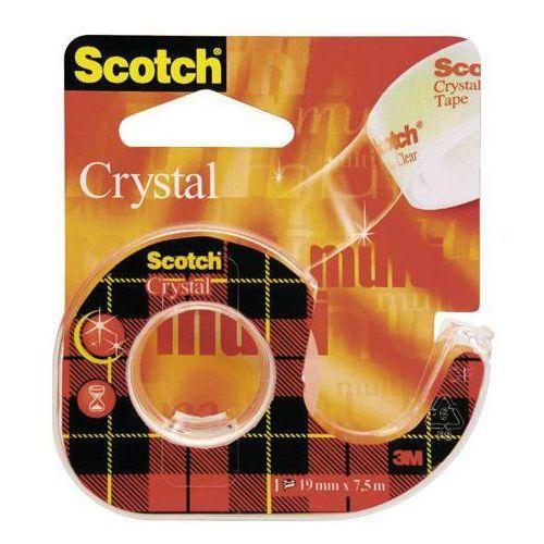 Taśma klejąca crystal 19mmx7,5m transparentna 6-1975 marki 3m scotch