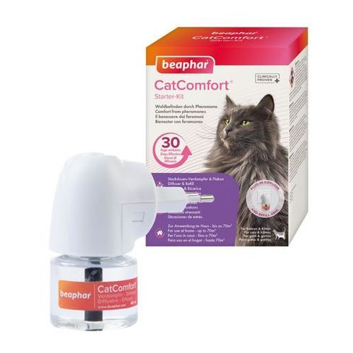 beaphar CatComfort® dyfuzor z feromonem F3 - Spray 60 ml  -5% Rabat dla nowych klientów  DARMOWA Dostawa od 99 zł + Promocje od zooplus! (8711231171453)