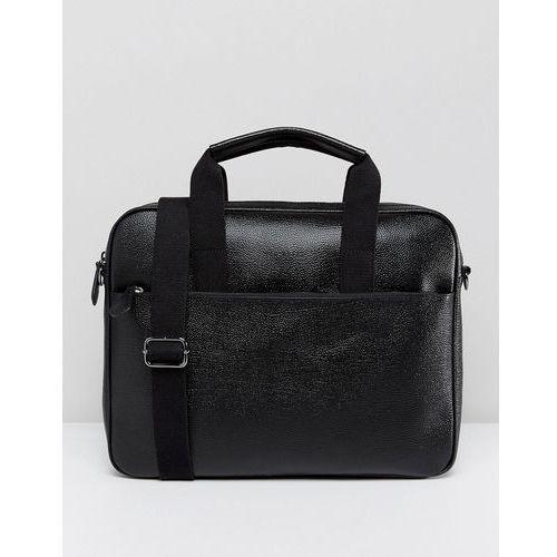 morcor document bag in leather - black marki Ted baker