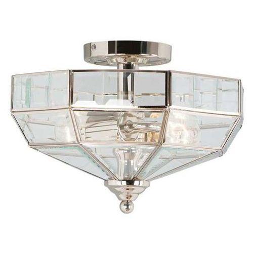 Plafon lampa sufitowa old park pb  oprawa szklana bryła mosiądz przezroczysty marki Elstead