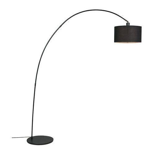Lampa podlogowa luk Vinossa czarna z czarnym kloszem