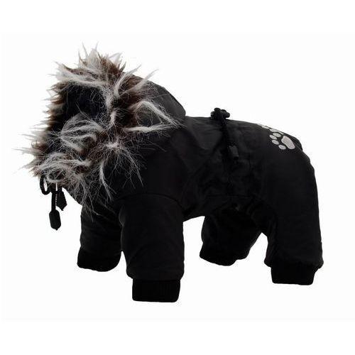 kombinezon z02 dla psa czarny z białym futerkiem końcówka kolekcji marki Grande finale
