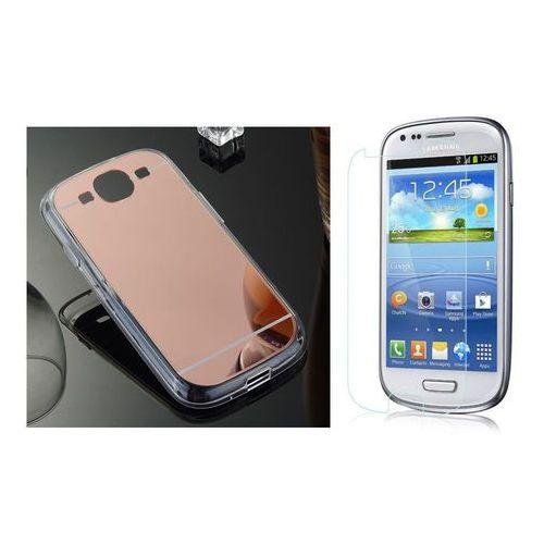 Zestaw   Slim Mirror Case Różowy + Szkło ochronne Perfect Glass   Etui dla Samsung Galaxy S3, kolor różowy