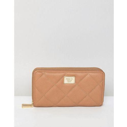 double zip around purse - tan marki Marc b