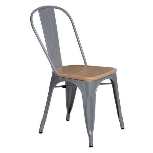 Krzesło paris wood szare sosna naturalna modern house bogata chata marki D2.design