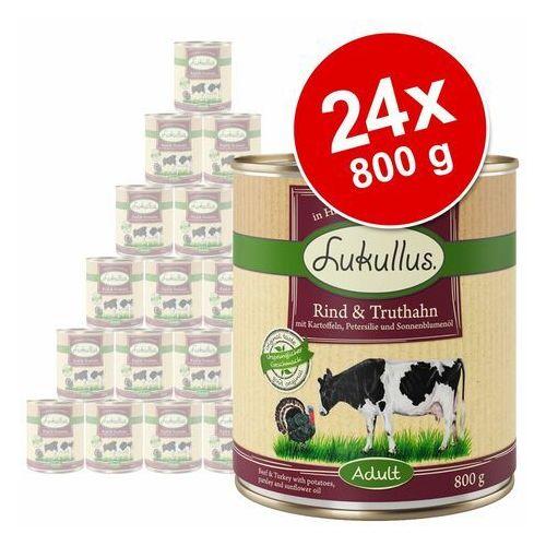 Megapakiet Lukullus Natural, 24 x 800 g - Królik i dziczyzna (4260077048169)