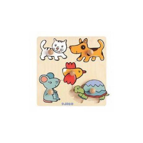 Puzzle Układanka drewniana z uchwytami Domowe zwierzęta, kup u jednego z partnerów