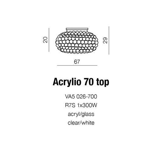 ACRYLIO 70 PLAFON NOWOCZESNY AZZARDO VA7026-700, VA7026-700