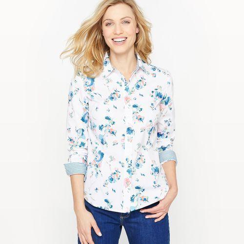 Bluzka koszulowa w kwiatki, koszulowa