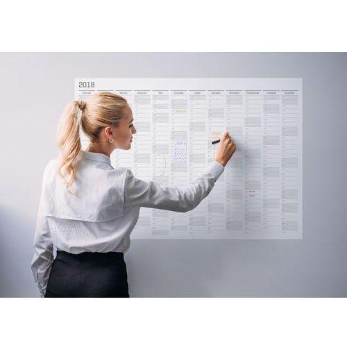 Grupavnm.pl Planer kalendarz ścienny 2018 papierowy suchościeralny 84x59 a1