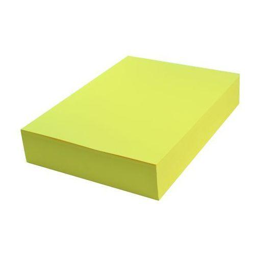 Papier techniczny kolorowy 100 ark A4 żółty intensywny 160g