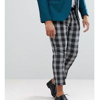 Noose & Monkey PLUS Tapered Cropped Check Trouser - Grey