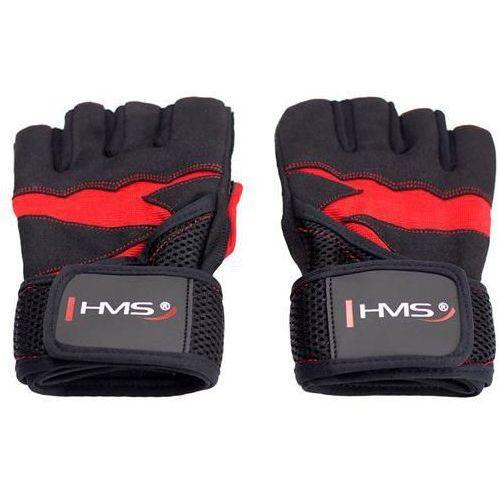 Rękawice na siłownię HMS RST02 (rozmiar S) Czarno-czerwony