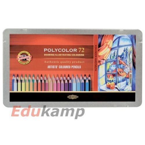 Koh-i-noor Kredki polycolor wodoodporne 72kol metal