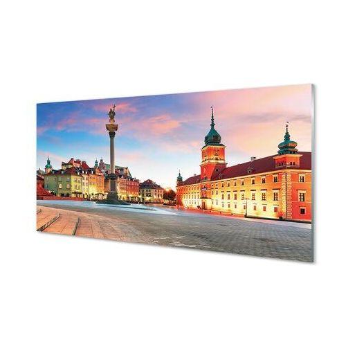 Obrazy na szkle Warszawa Wschód słońca stare miasto