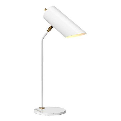 Lampa stołowa Quinto biała/mosiądz antyczny