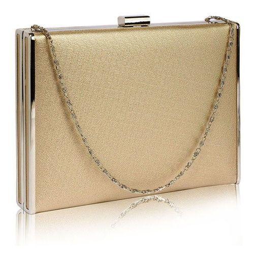 Wielka brytania Elegancka gładka torebka wizytowa kopertówka złota - złoty
