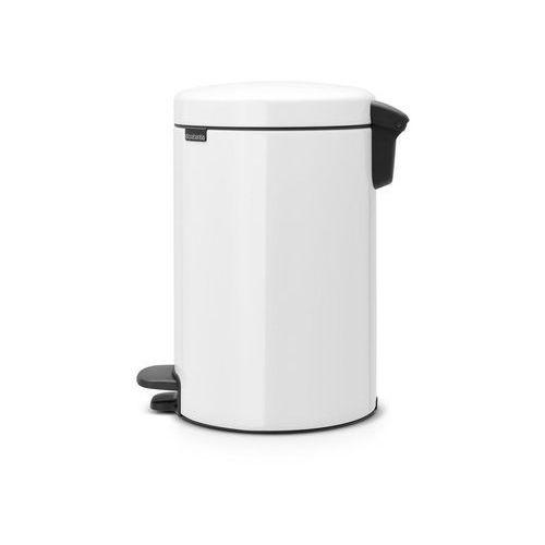 Brabantia Kosz na śmieci pedałowy newicon 12l z metalowym wiaderkiem biały (8710755113864)