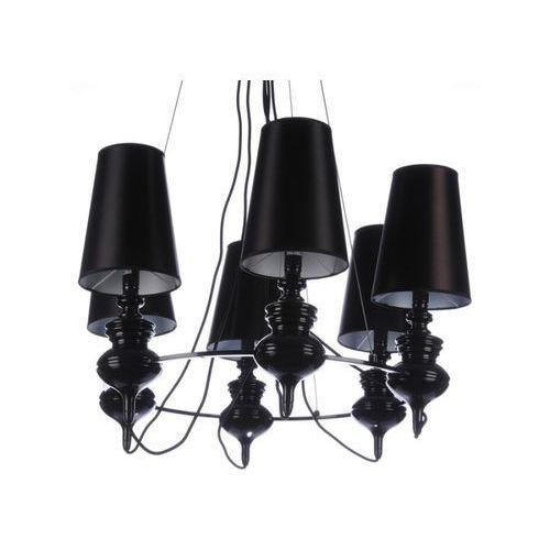 Azzardo Baroco AZ1379 AD7121S-6 BL Lampa wisząca zwis 6x11W E14 czarna - NEGOCJUJ CENĘ, AD7121S-6 BL