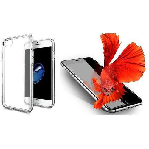 Zestaw | spigen sgp ultra hybrid crystal clear | obudowa + szkło ochronne perfect glass dla modelu apple iphone 7 marki Sgp - spigen / perfect glass