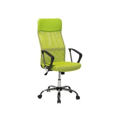 Krzesło biurowe zielone regulowana wysokość DESIGN (4260586356700)