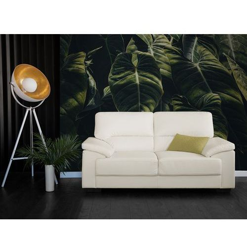 Sofa kremowa - dwuosobowa - kanapa - skóra ekologiczna - vogar marki Beliani