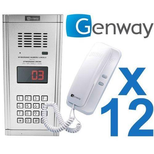 Zestaw domofonowy 12 rodzinny wl-03nl marki Genway