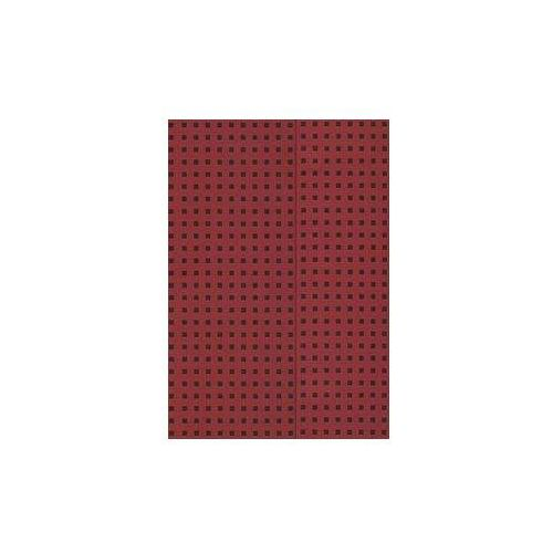 Zeszyt B5 Paper-oh Quadro w linie 56 kartek Red on Black (9781439790564)