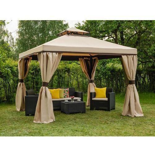 Garden point Pawilon ogrodowy z moskitierą walencja 3x3m kremowy (5903332903467)