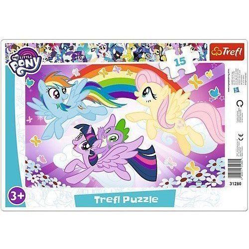 Trefl Puzzle 15 ramkowe my little pony zabawa kucyków