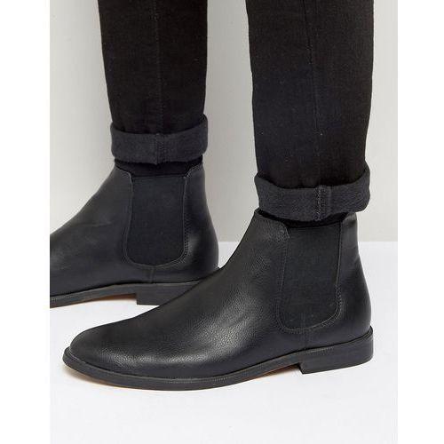 New look chelsea boot in black - black