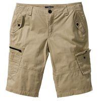 Bermudy Loose Fit bonprix jasny khaki, kolor beżowy