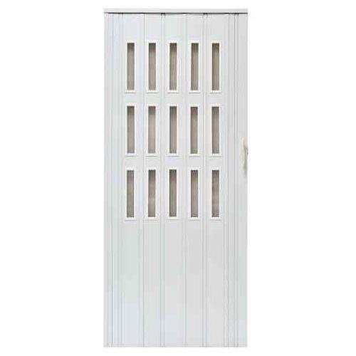 Drzwi harmonijkowe 008S 014 Biały Mat 80 cm, GK-0201