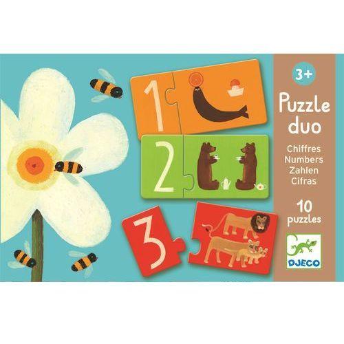 Puzzle Duo Djeco dla najmłodszych - Liczby DJ08151 (3070900081512)