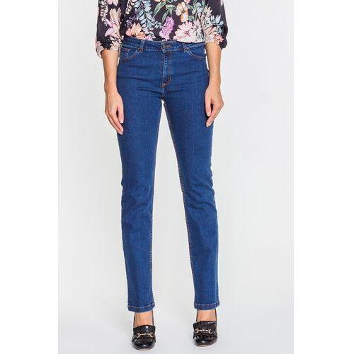 Granatowe spodnie jeansowe - Jelonek, jeansy