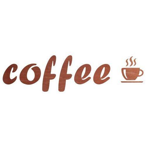 Congee.pl Dekoracja drewniana napis na ścianę coffee - 3 mm