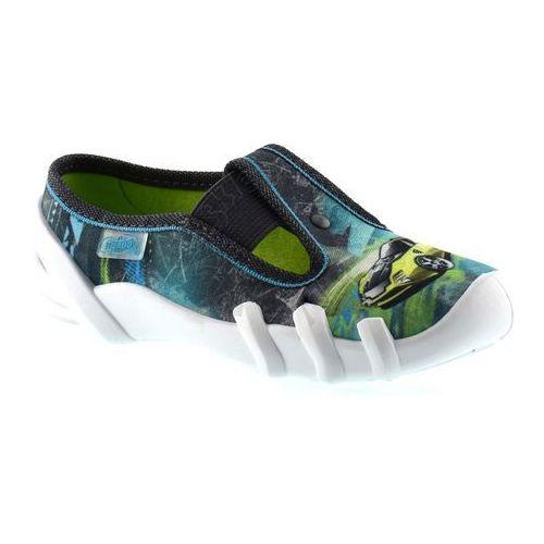 Kapcie dziecięce Befado 290X152 Skate - Zielony   Niebieski, kolor Zielony