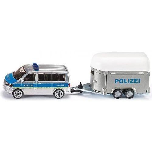 , model samochód policyjny z przyczepą dla koni marki Siku