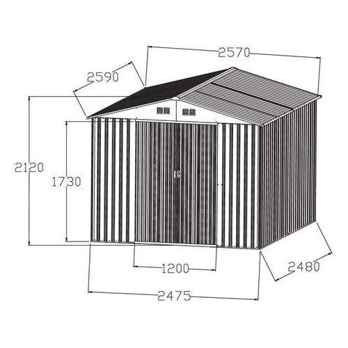 Hecht czechy Hecht 8x8 plus domek ogrodowy na narzędzia ciemnoszary wiata meble ogrodowe - ewimax oficjalny dystrybutor - autoryzowany dealer hecht (8595614905008)
