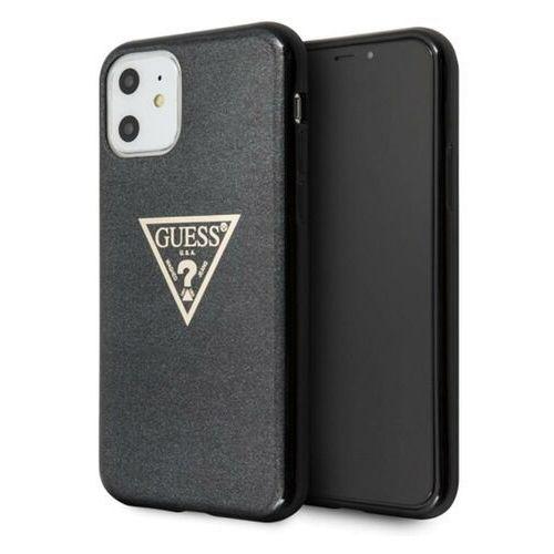 Etui Guess GUHCN61SGTLBK iPhone 11 czarny/black hard case Glitter Triangle (3700740461495)