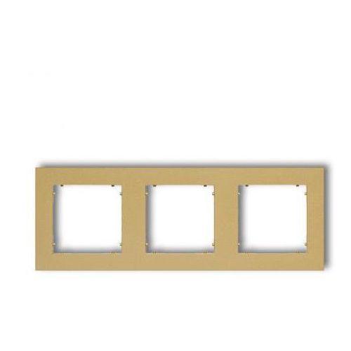 Ramka potrójna Karlik Mini 29MR-3 złota, kolor złoty